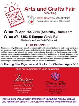 April 12th, 2014 - Illusions Salon and Boutique Arts & Crafts Fundraiser Fair